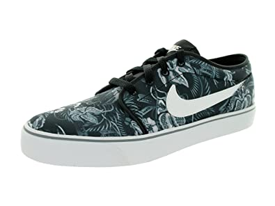 Nike Toki Low Txt Print US Mens 9 M TotalOrangeWhiteBlack