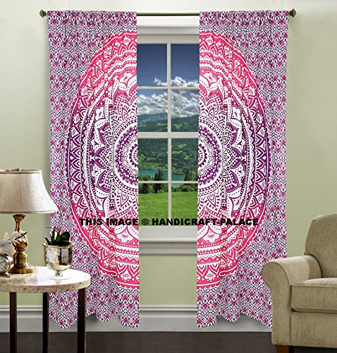 Exclusive Indian Pink Ombre Mandala Tapestry Large Wall H...