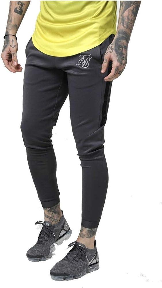 Sik Silk Pantalon Chandal Hombre Skinny Fit Ajustado (XL): Amazon ...