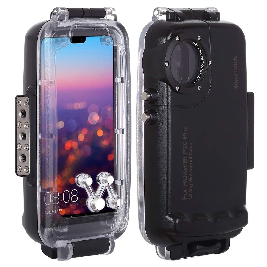 HAWEEL Huawei P20用水中カバーケース 40m / 130ft防水ダイビングハウジングPC, ABS製 IPX8防水認定 360度全方位保護 写真ビデオ撮影用 B07MV66K97 黒 Huawei P20 Pro用 Huawei P20 Pro用|黒