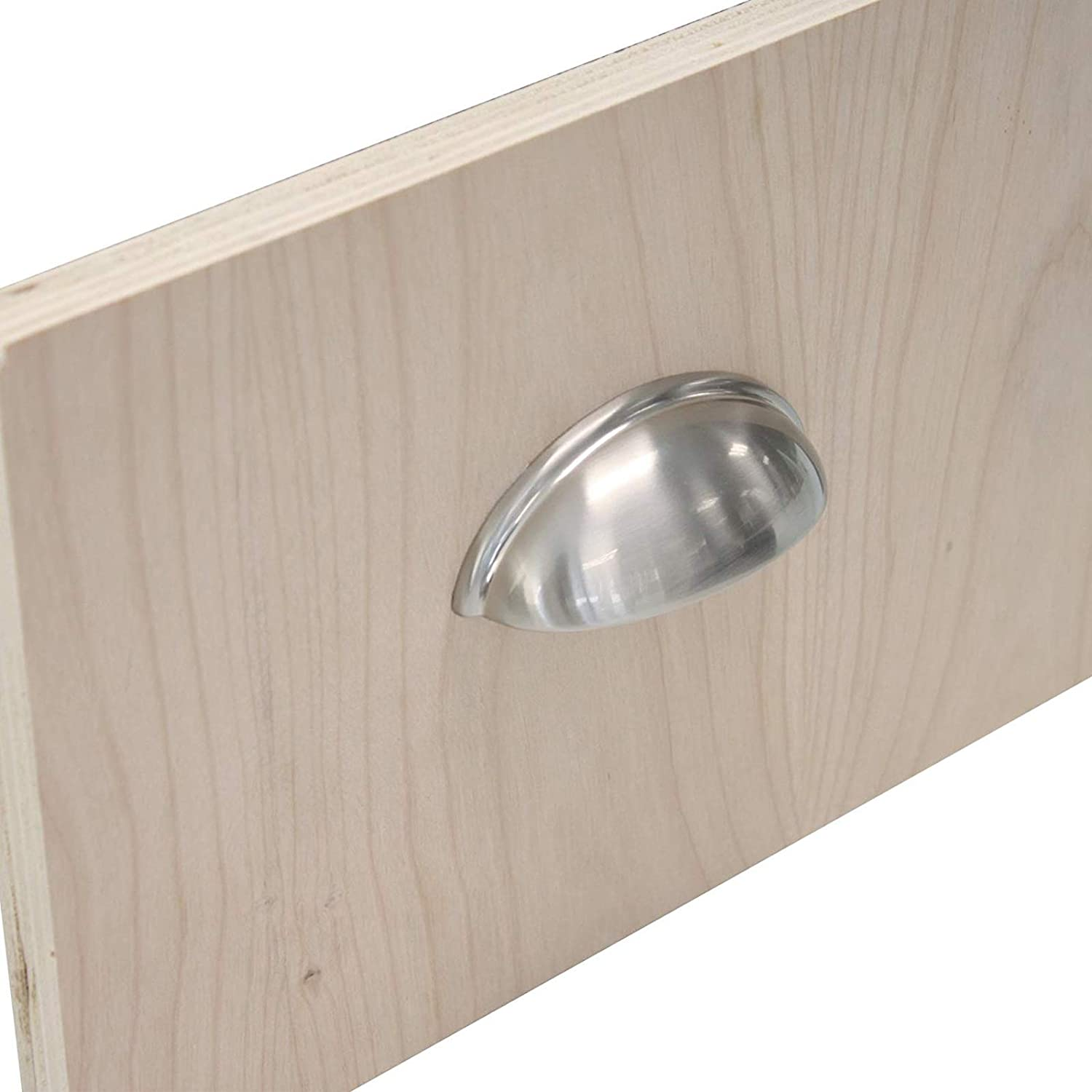 Polished Brass Hole Centers 20 X Probrico Gold Cup Cabinet Door Handles Modern Shell Drawer Pulls 76mm 3 inch