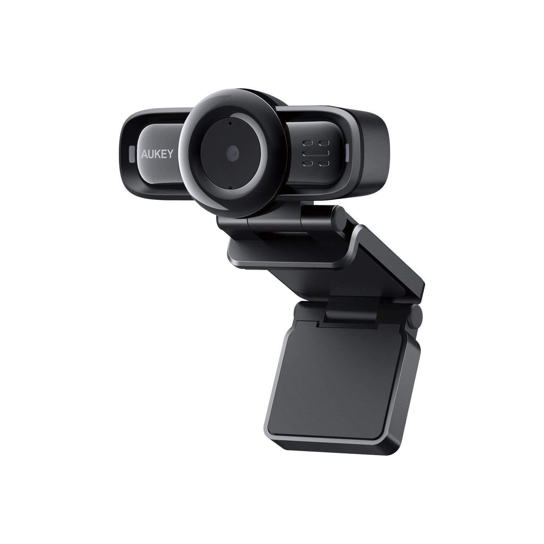 AUKEY Webcam 1080P Full HD, Autofocus e Microfoni con Riduzione del Rumore