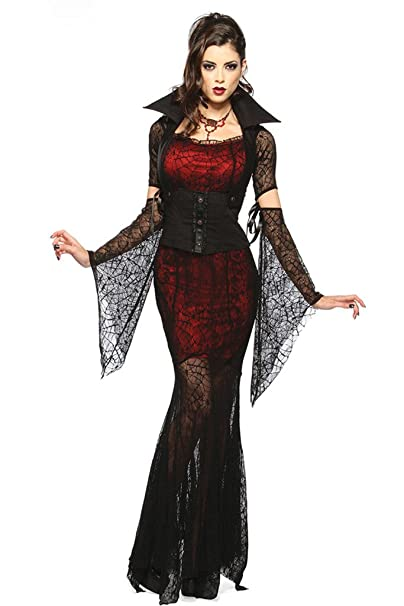 Joloyn Womenu0027s Halloween Vixen V&ire Costume Halloween One Size Black and Red  sc 1 st  Amazon.ca : vampire costume amazon  - Germanpascual.Com