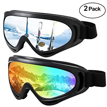 27b52655d26124 Hootracker Motocross Goggle, Lunettes de Ski, Masques Snowboard, Protection  UV 400, Coupe
