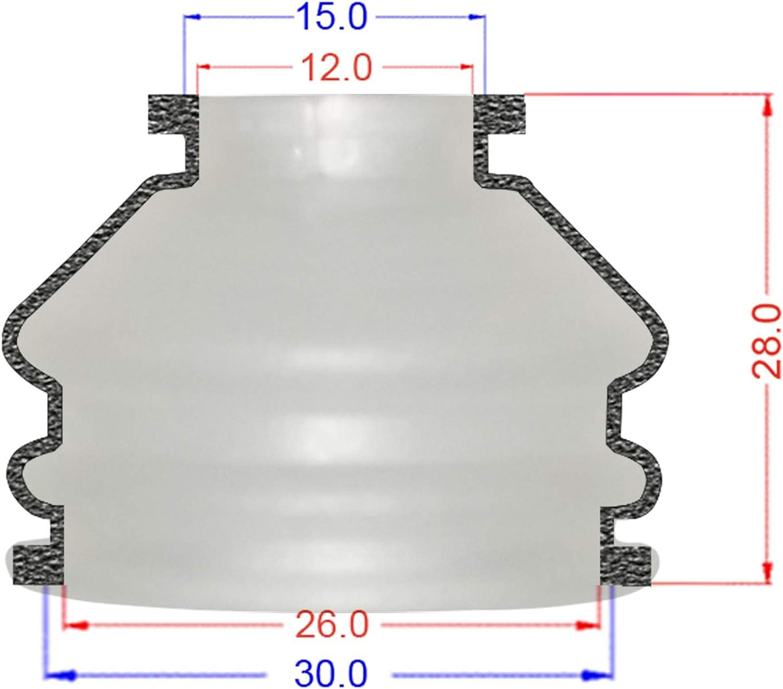 2 X Universal Dust Boot Silikon 12 26 25 Spurstangenkopf Und Kugelgelenk Staubschutz Auto