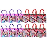 """Disney Minnie Mouse Party Favor Goodie Gift Bag - 6"""" Small Size (12 Packs)"""