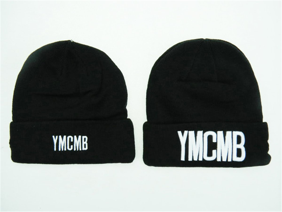 YMCMB Beanie Sombreros/gorros (Negro con Blanco Logo): Amazon.es ...