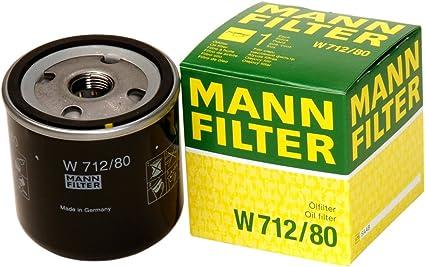 Mann Filter W 712/80 Filtro de Aceite