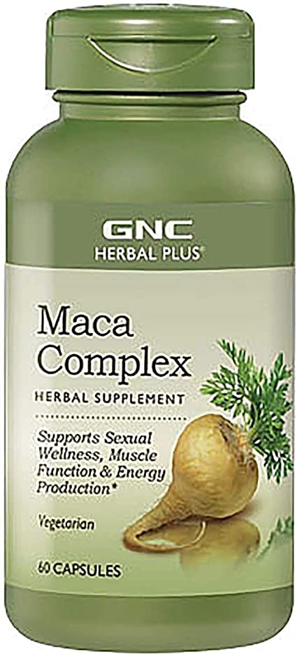 Amazon Com Gnc Herbal Plus Maca Complex 60 Capsules Supports