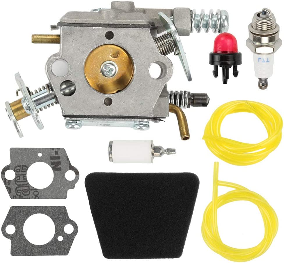 Fuel Li 545081885 Carburetor Kit for Poulan 1900 1950 1950LE 1975 1975LE 2025 2050 2055 2050LE 2050WT 2055LE 2075 2075C 2075OC 2150 2150LE Craftsman Chainsaw Replace 530071619 530071620 530071821