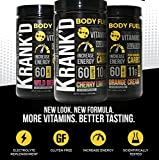 Krankd Body Fuel by JBN - Essential Vitamins and Minerals - Replenish Electrolytes Increase Energy with Highly Digestible Carbohydrates, 60 calories (30 serv, Cherry Limeade), 1.06 pounds (480 grams)
