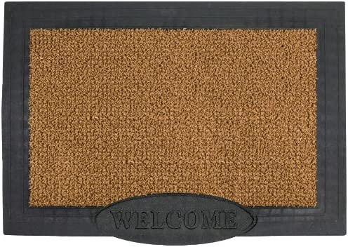 GrassWorx Clean Machine Big Welcome Doormat, 24 x 36 , Cocoa 10371567