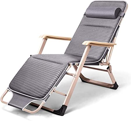 ADHW Reclinable, sillas reclinables Exterior, Tumbona, Balcón reclinables Sillas de Cubierta, al Aire Libre Jardín Mecedora Silla de relajación (Color : Grey): Amazon.es: Hogar