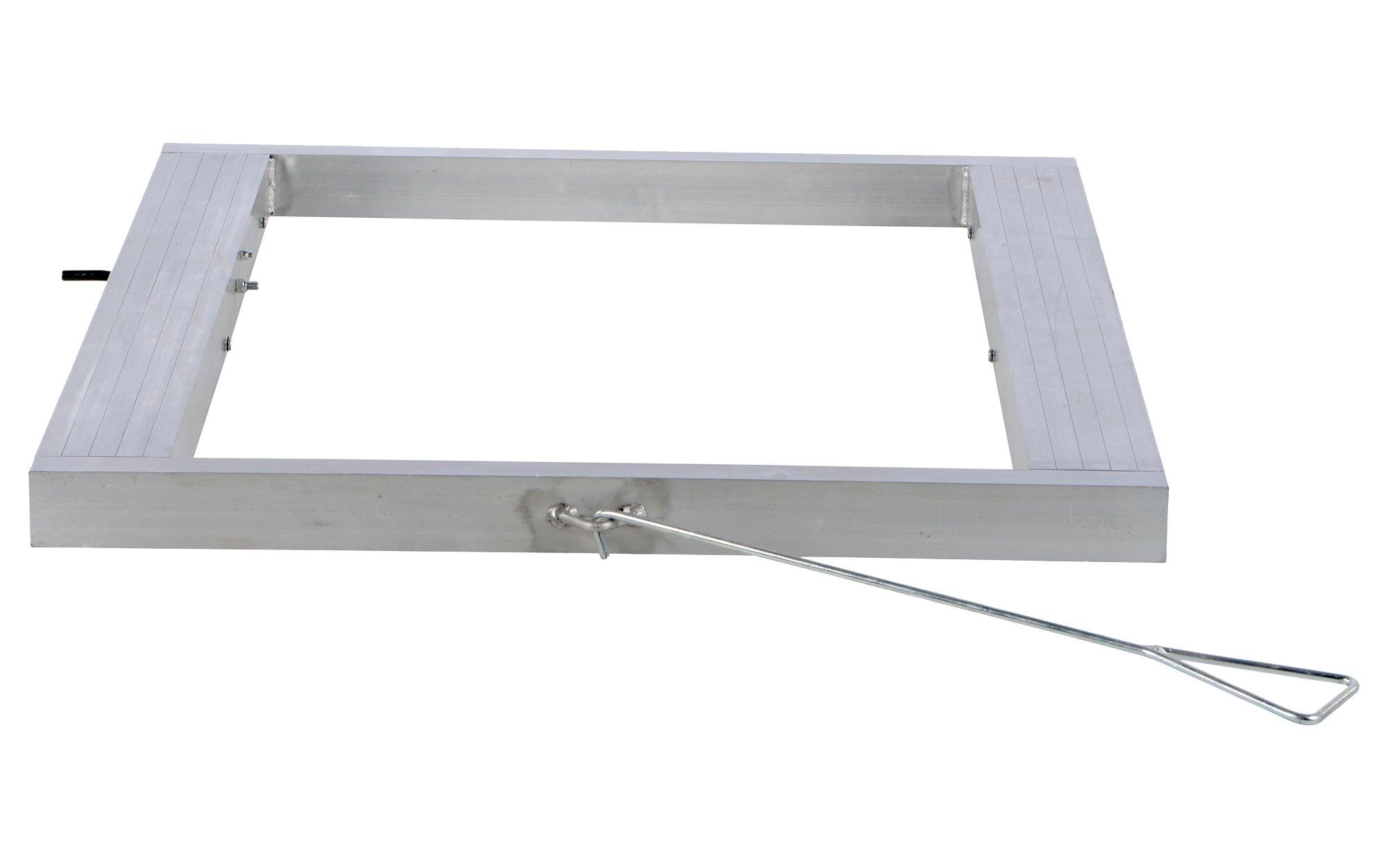 Vestil DOL-4848-6T Pallet Dolly, Tilting, Aluminum, 4,000 lb. Capacity, 4-1/8 x 48 x 48'' by Vestil (Image #1)