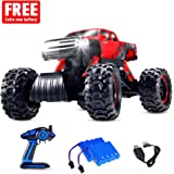 Geekper Electric RC Cars Built with LED Headlights - Offroad Remote Control Car RTR RC Buggy RC Monster Truck 1:12 4WD 2.4Ghz High Speed ( with 2 Rechargeable Battery )