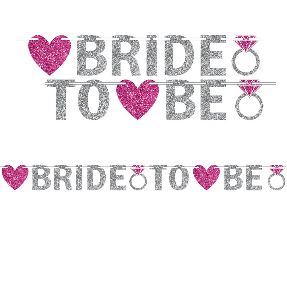 12 feet Silver Amscan 210372 Bride To Be Banner Party D/écor