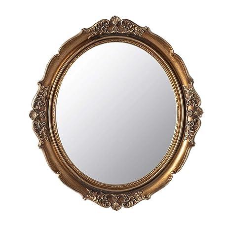 Amazon.com: Bathroom mirror Vintage Carved Wall Hanging ...