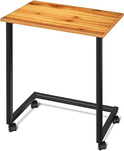 Mesa para Cama - Mesa de la Bandeja de la Rueda rodante - Mesita ...