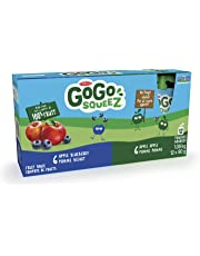 GoGo squeeZ Go Go Squeez 12 Pack 6 Apple Blueberry 6 Apple Apple, Apple Apple Blueberry, 90 Grams