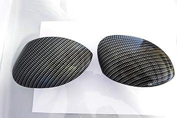 Juego de carcasas para espejos retrovisores con hidroimpresión Efecto Fibra De Carbono: Amazon.es: Coche y moto