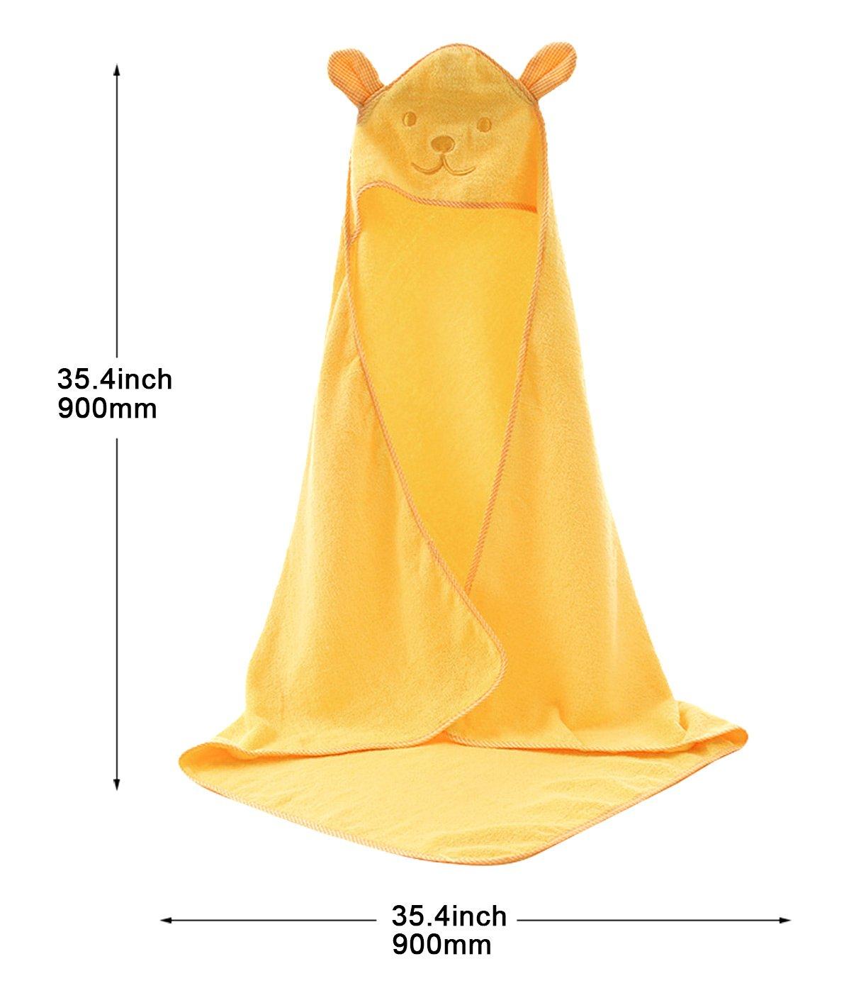 Unisex Baby Badetuch Kapuze Handtuch Badeponcho 100/% Baumwolle Duschtuch Kuschelig Strandt/ücher Weich Bademantel 90cm*90cm-Blau