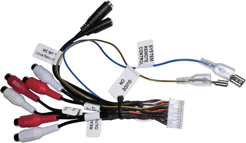 Aerzetix Kabelbaum Adapter Cinch Subwoofer 20 Pin Für Elektronik