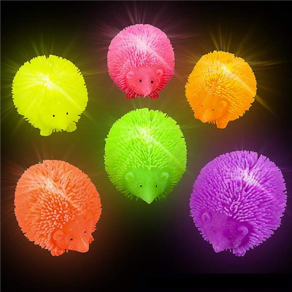 Shop Zoombie Light Up Hedgehog Puffer Flashing Toy 12 Pack and 1 Vortex Eraser Party Favors Glow Parties Prizes Sensory Toys Easter Baskets Stocking Stuffers