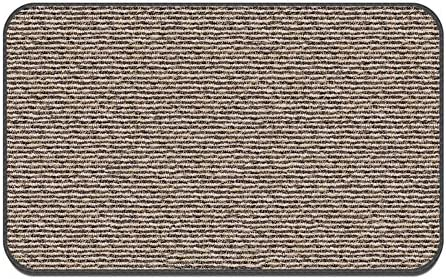House, Home and More Skid-Resistant Carpet Indoor Area Rug Floor Mat – Black Ripple – 8 Feet X 10 Feet