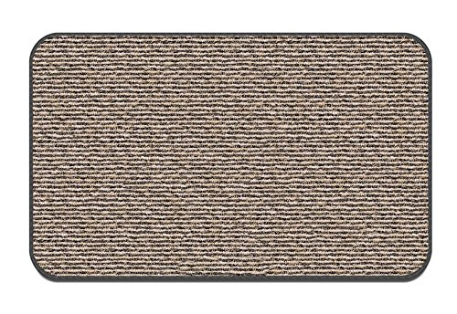 House, Home and More Skid-Resistant Carpet Indoor Area Rug Floor Mat – Black Ripple – 6 Feet X 9 Feet