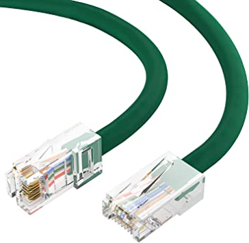 Green 1 feet CAT5E Cable with UTP Molded Boot 350MHz