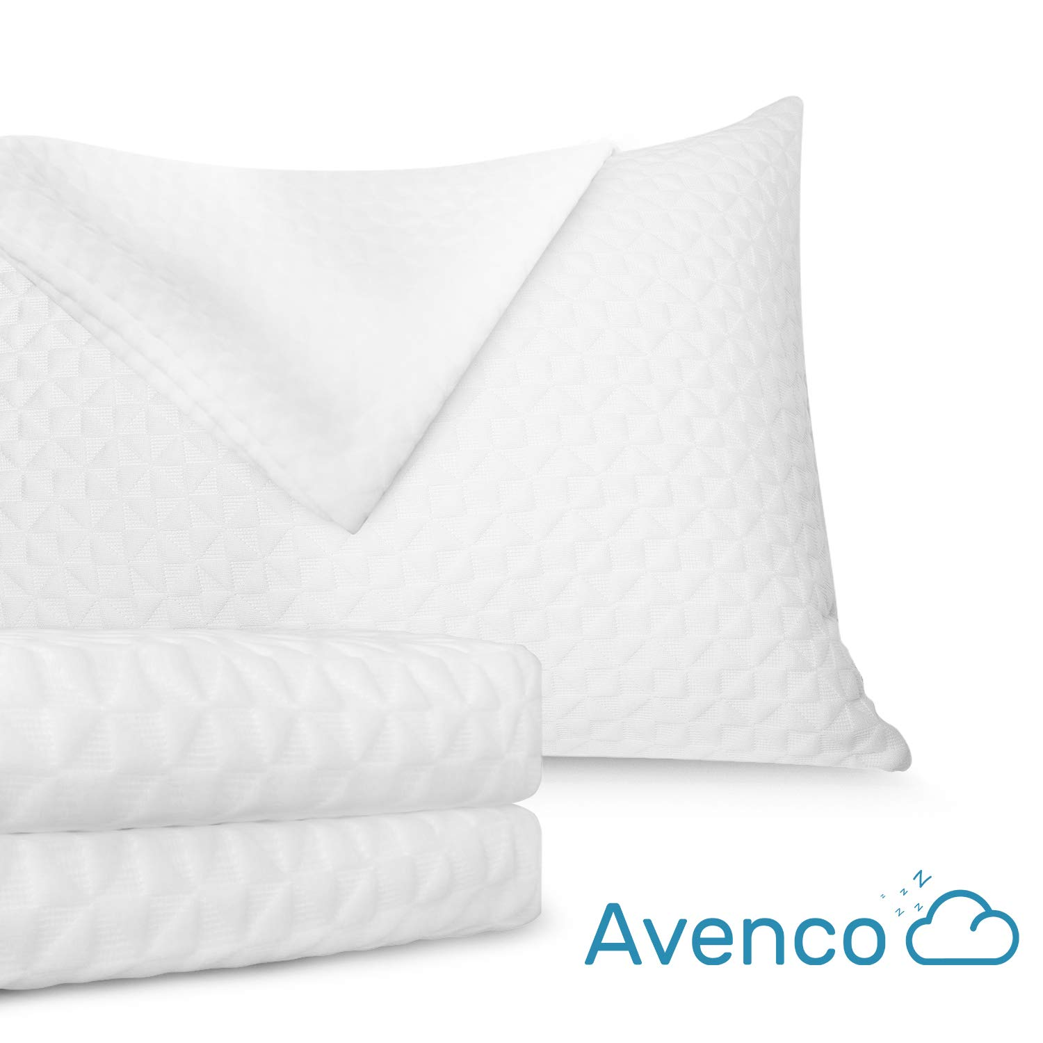 Avenco Pillow Protectors, Concealed Zipper Covers, Absorbent and Water Resistance, Breathable, King Size Set of 2