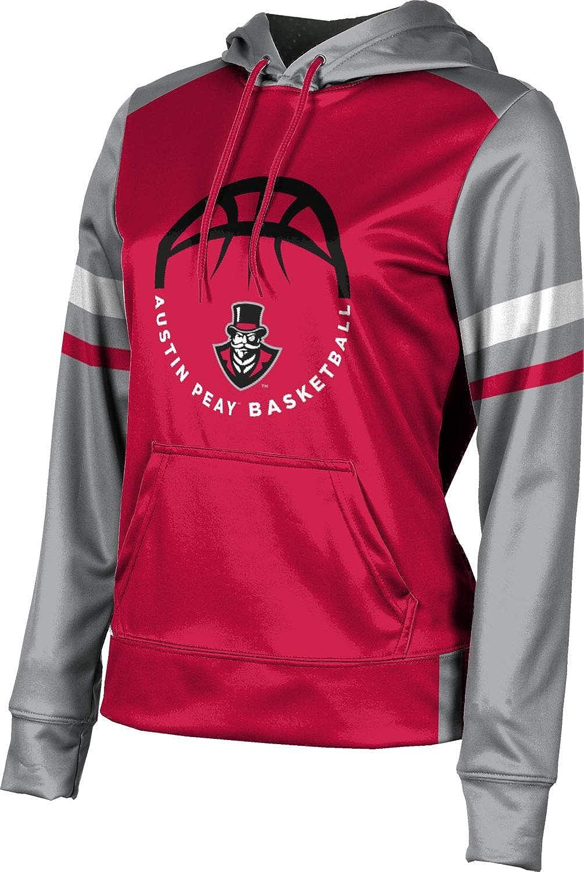 School Spirit Sweatshirt ProSphere Austin Peay State University Basketball Girls Pullover Hoodie Old School