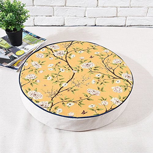 MEMORECOOL LIGHT UP YOUR HOME Japanese Futon Round Seat Cushion, Thicken Chair Window Pad, Sofa/Car Back Pillow, 20 (Thai Positioning Pillow)
