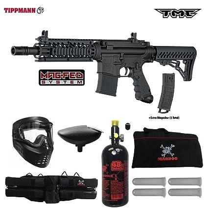 Amazon Com Tippmann Tmc Magfed Beginner Hpa Paintball Gun Package