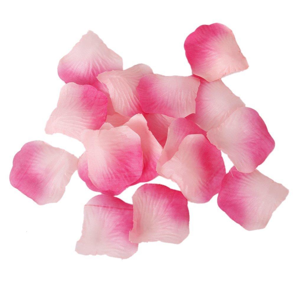 F-eshion 100 pcs Simulazione petali di rosa moda elegante stile petali decorativi rosa decorativa White