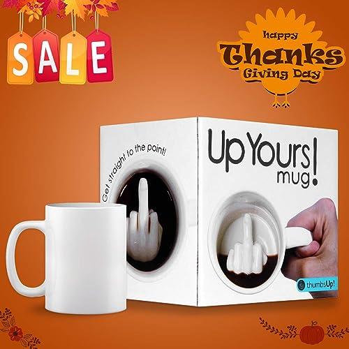 SHENNOSI Doigt D'honneur Tasse en céramique Mug Tasse à café