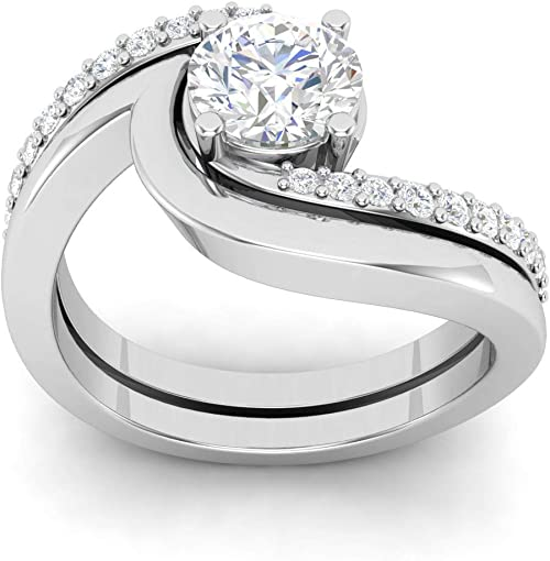 925 Silver Jewelry Solitaire Ring 18k White Gold Finish Round Cut Engagement Ring,Lovely Ring Wedding Ring,Bridal ring