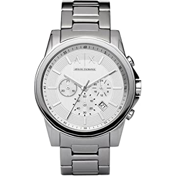 Armani Exchange Mens AX2058 Silver Watch