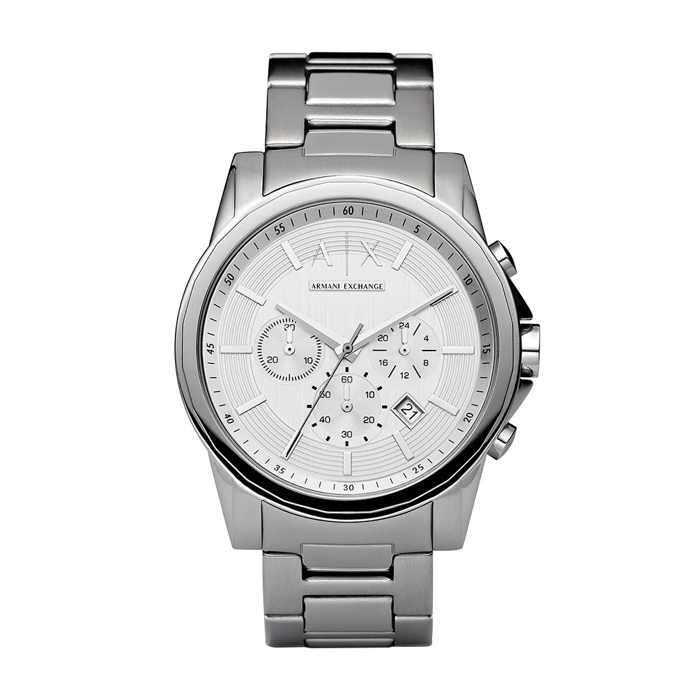 Armani Exchange Men's AX2058 Silver Watch