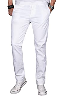 60ca73dc23cdd7 A. Salvarini Herren Designer Chino Stretch Stoff Hose Chinohose Regular Slim  mit Elasthananteil AS024