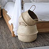 Seagrass Belly Basket | Handwoven Foldable