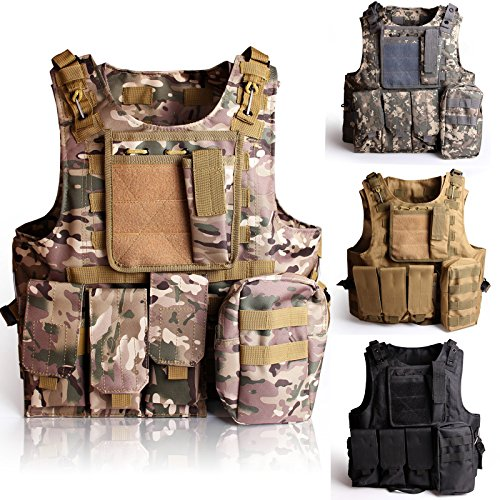 Solomone Cavalli Tactical Molle Combat Vest Airsoft Camouflage Police Fully Adjustable