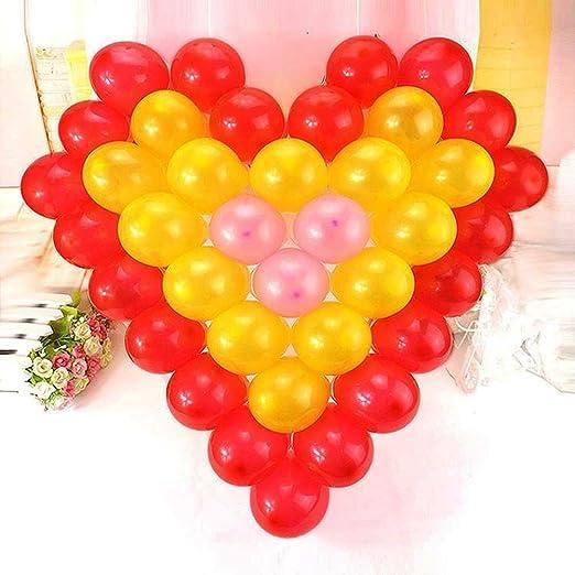 Amazon.com: Love Heart Shape Plastic Balloon Mesh Grid Home Party ...