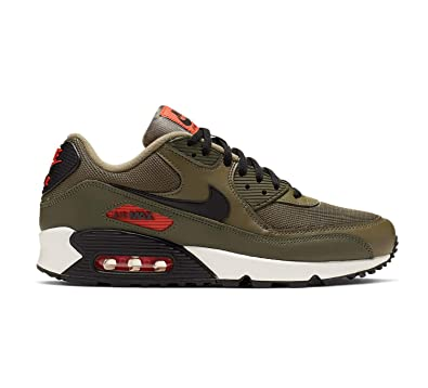 new concept 24472 02fcc Nike Air Max 90 Essential, Chaussures d Athlétisme Homme, Multicolore  (Medium Olive