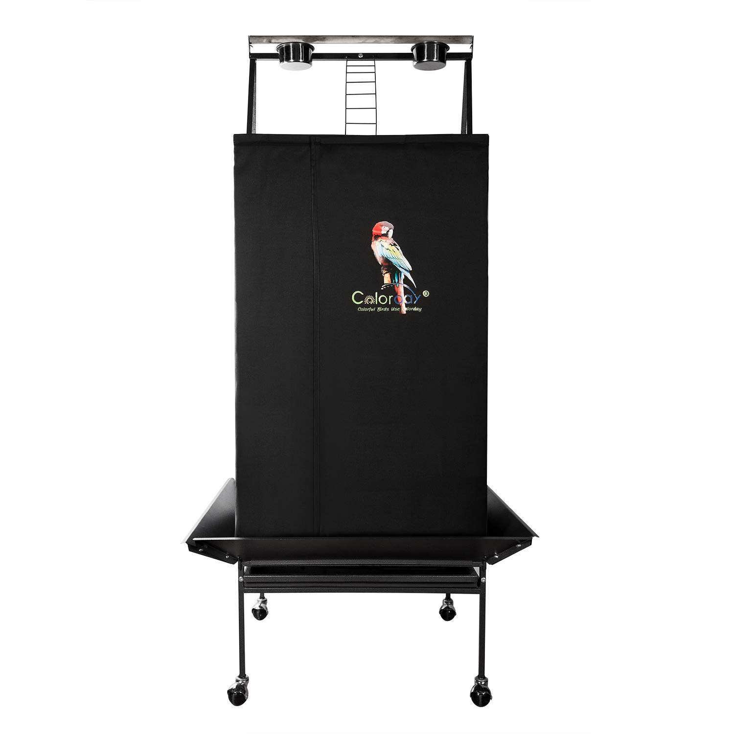 Colorday Good Night Bird Cage Cover for Large Bird Cage with Play Top (Patent Pending)