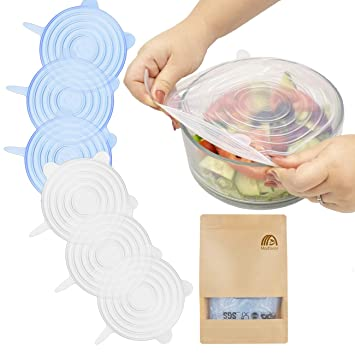 12x Food Silicone Lid Stretchable Stretch Reusable Lid Storage Kitchen Storage