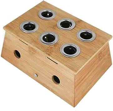 Glield Bambú Caja De Curación para Moxa Moxibustión Medicina Terapia, Six Hole AJG01: Amazon.es: Salud y cuidado personal