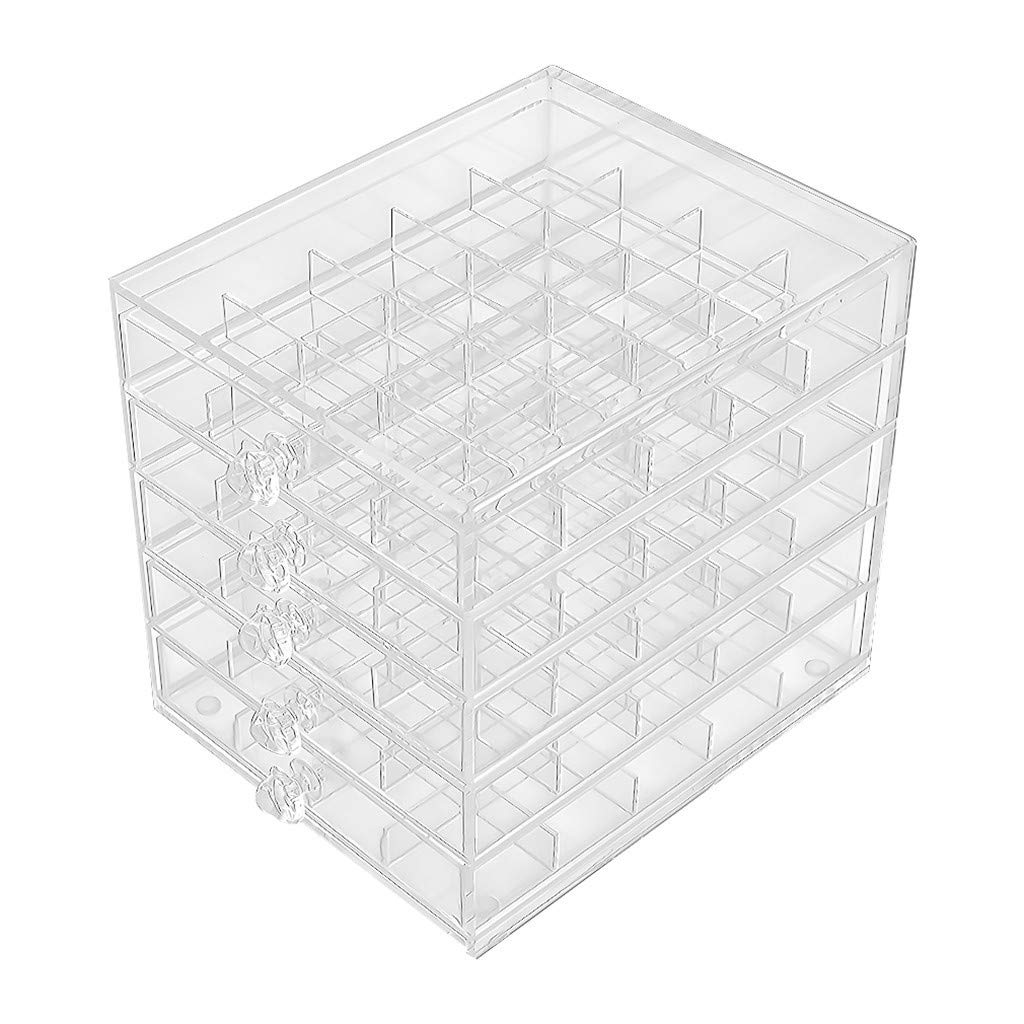 cnnIUHA Five Layer Detachable Acrylic Transparent Lattice Home Multi-Purpose Organizer Box,Desktop Jewelry Cosmetic Small Plastic Box Makeup Storage Holder Lipstick Jewelry Necklace