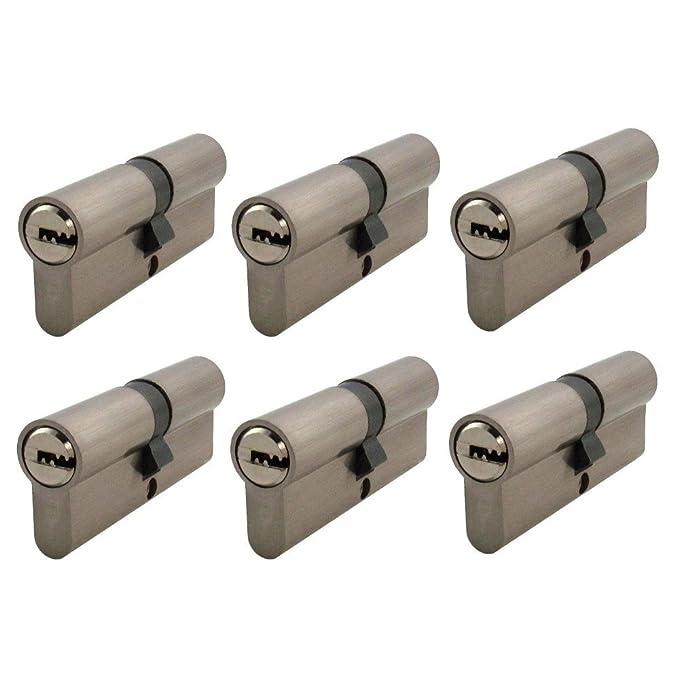 3x Halbzylinder 40mm 30//10 15 Schlüssel Tür Zylinder Schloss gleichschliessend