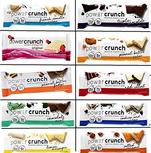 Power Crunch Original Protein Bars, Variety Pack, All Flavors-22 Bar